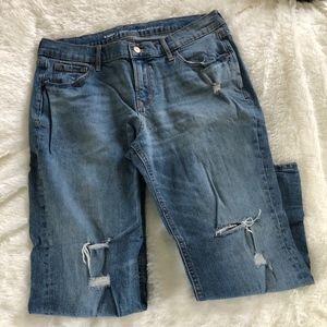 Old Navy boyfriend ripped jeans